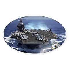 USS Carl Vinson CVN-70 Rectangle Sticker (Oval 50 pk)