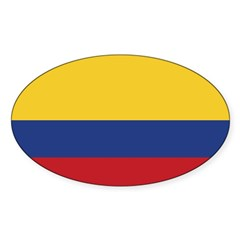 Flag of Colombia Rectangle Sticker (Oval 50 pk)