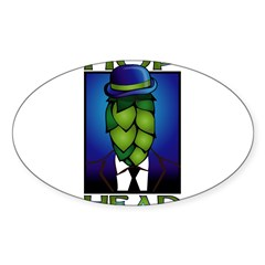 Hop Head Rectangle Sticker (Oval 50 pk)