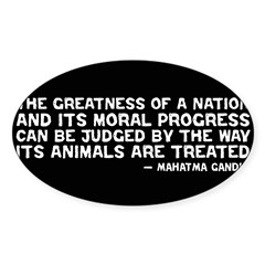 Quote - Greatness - Gandhi Rectangle Sticker (Oval 50 pk)