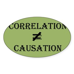 Correlation Causation Sticker (Oval 50 pk)
