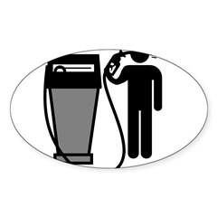 Gas Pump Suicide Rectangle Sticker (Oval 50 pk)
