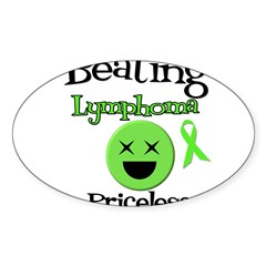 Beating Lymphoma Oval Sticker (10 pk) Sticker (Oval 50 pk)