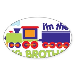 train big brother t-shirts Rectangle Sticker (Oval 50 pk)