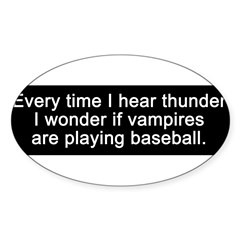 Baseball Vampires Sticker (Oval 50 pk)