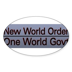 New World Order Truth Sticker (Oval 50 pk)