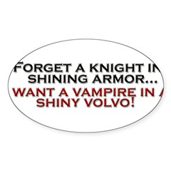 Shiny Volvo Sticker (Oval 50 pk)