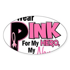 I Wear Pink For My Nana 19 Rectangle Sticker (Oval 50 pk)