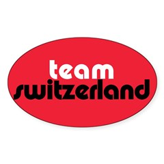 Team Switzerland Rectangle Sticker (Oval 50 pk)