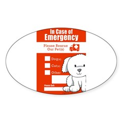 In Case of Emergency Rectangle Sticker (Oval 50 pk)