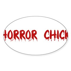 Horror Chick Rectangle Sticker (Oval 50 pk)