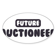 Future Auctioneer Sticker (Oval 50 pk)