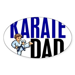 Karate Dad (OF BOY) 3 Rectangle Sticker (Oval 50 pk)
