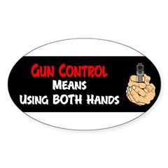 Anti Gun Control Sticker (Oval 50 pk)