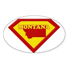 Super Star Montana Rectangle Sticker (Oval 50 pk)