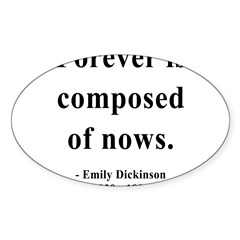Emily Dickinson 3 Sticker (Oval 50 pk)