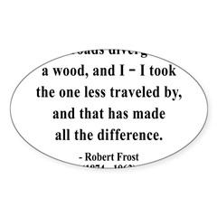 Robert Frost 1 Rectangle Sticker (Oval 50 pk)