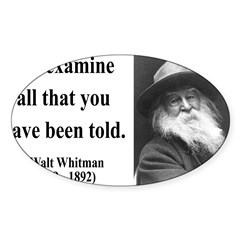 Walter Whitman 11 Rectangle Sticker (Oval 50 pk)