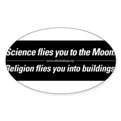 Science vs. Religion Sticker (Oval 50 pk)
