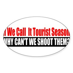 Tourist Season Sticker (Oval 50 pk)
