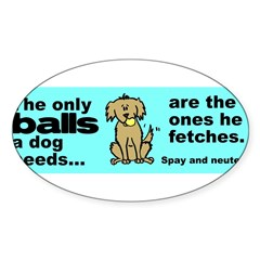 Neuter Support Sticker (Oval 50 pk)