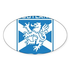 Scotland Rectangle Sticker (Oval 50 pk)