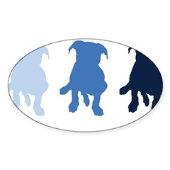 TPBP Blue Rectangle Sticker (Oval 50 pk)