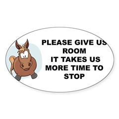 Pugpockets.com- Horse Sticker (Oval 50 pk)