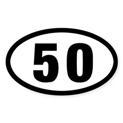 50 mile Ultrarunning Sticker (Oval 50 pk)