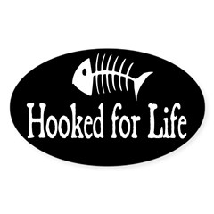 Hooked for Life Oval Sticker (Oval 50 pk)