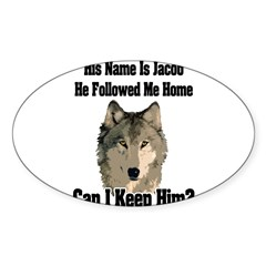 Can I keep him??? Sticker (Oval 50 pk)