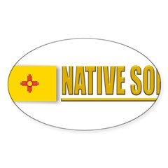 New Mexico Native Son Sticker (Oval 50 pk)