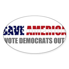 Save America Sticker (Oval 50 pk)