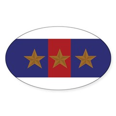 Marine Corps Recruiting 3 star (Bumper) Sticker (Oval 50 pk)