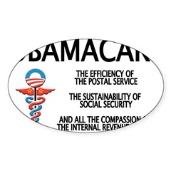 OBAMACARE II Rectangle Sticker (Oval 50 pk)