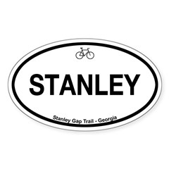 Stanley Gap Trail Sticker (Oval 50 pk)