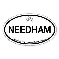 Needham Town Fore Sticker (Oval 50 pk)