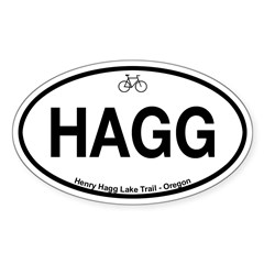Henry Hagg Lake Trail Sticker (Oval 50 pk)