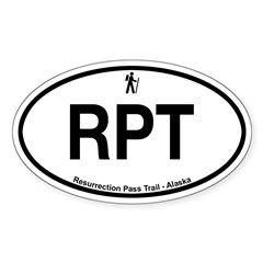Resurrection Pass Trail Sticker (Oval 50 pk)