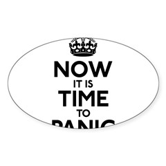Time To Panic Sticker (Oval 50 pk)