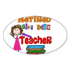 Elementary Sticker (Oval 50 pk)