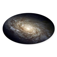 NGC 4414 Spiral Galaxy Oval Sticker (Oval 50 pk)