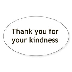Thank you for your Kindnes Sticker (Oval 50 pk)