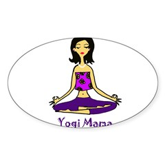 Yogi Mama Rectangle Sticker (Oval 50 pk)