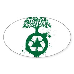 Recycle Sticker (Oval 50 pk)