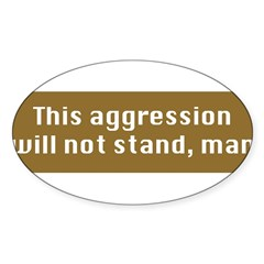 This Aggression Sticker (Oval 50 pk)
