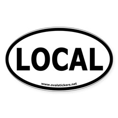 Local Oval Car Sticker (Oval 50 pk)