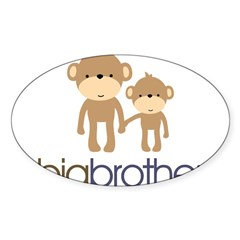 Big Brother Monkey Sticker (Oval 50 pk)