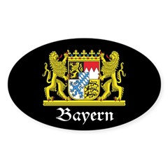 Black Bayern Sticker (Oval 50 pk)