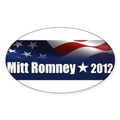 Mitt Romney 2012 Sticker (Oval 50 pk)